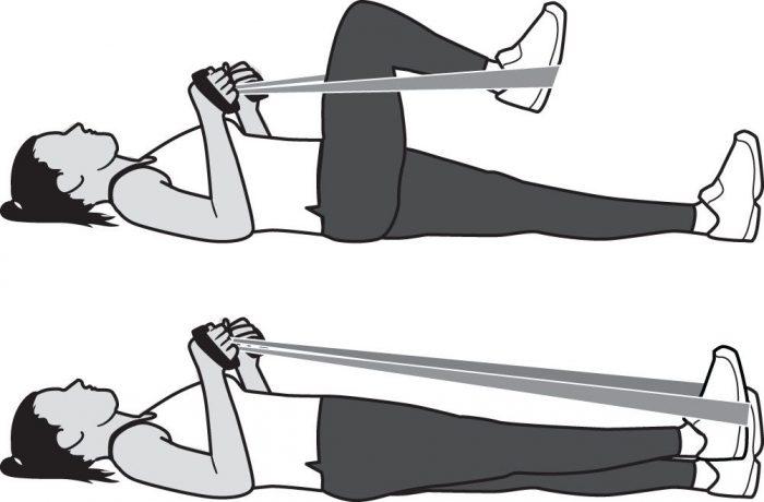 Как быстро растянуть мышцы под коленями