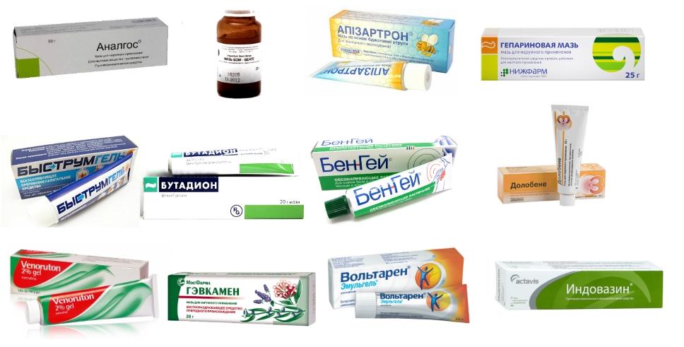 Мазь при растяжении мышц и связок обзор препаратов